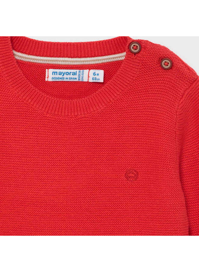 Basic cotton sweater Cyber Red