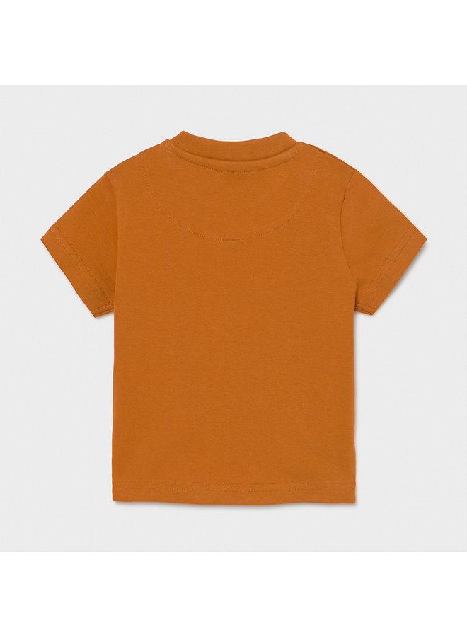 """s/s t-shirt """"play"""" """"zebra"""" Caramel"""