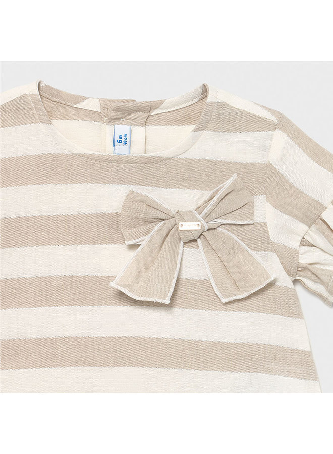 linen striped blouse Linen