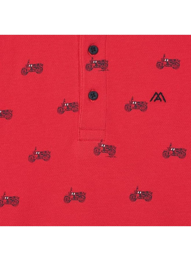 S/s polo Cyber Red