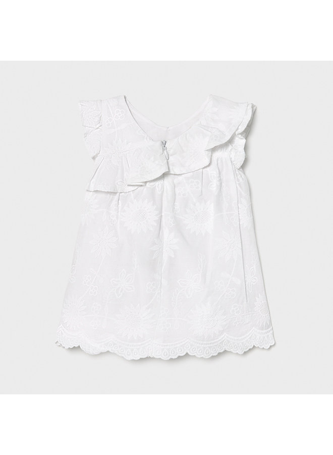 Embroidered dress White