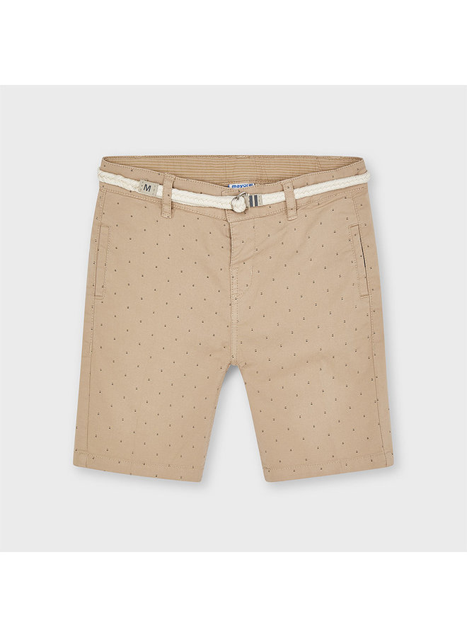Printed shorts with belt Sesame