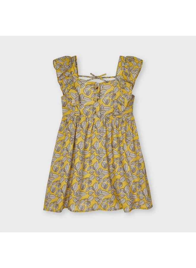 Printed dress Mustard