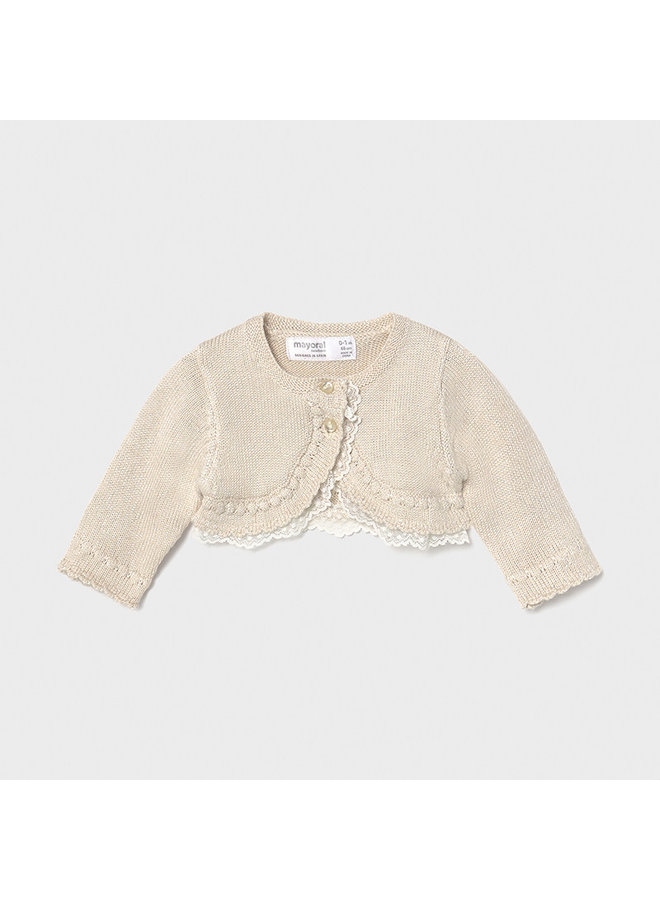 Dressy knit cardigan Beige