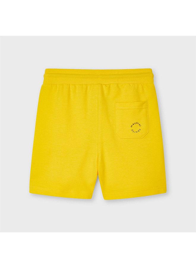 Basic fleece shorts Yellow