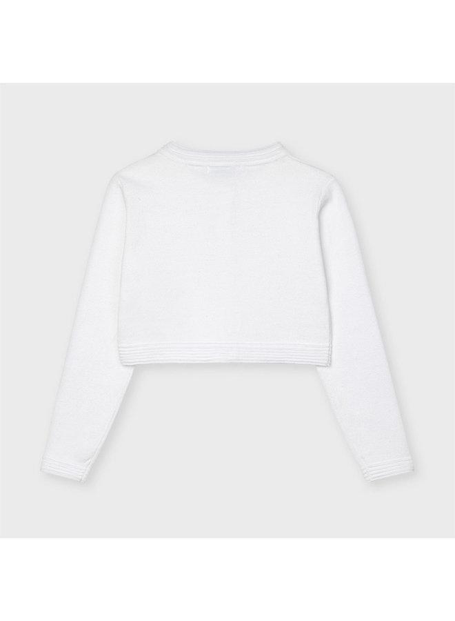 Basic knitted cardigan White