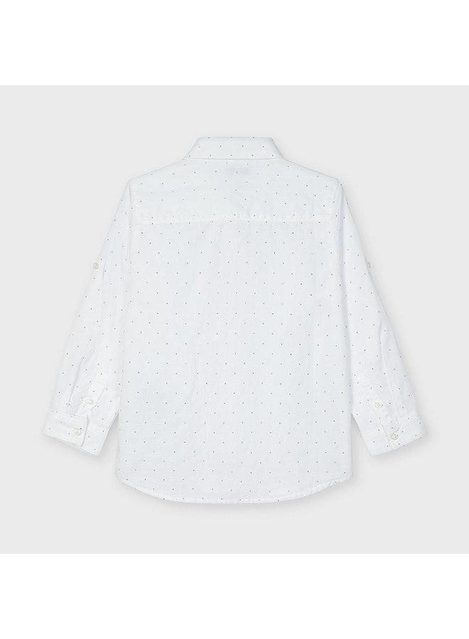 Basic linen l/s shirt Printed