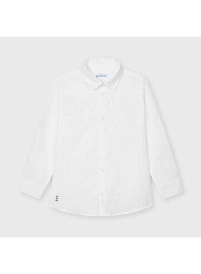 Basic linen l/s shirt White