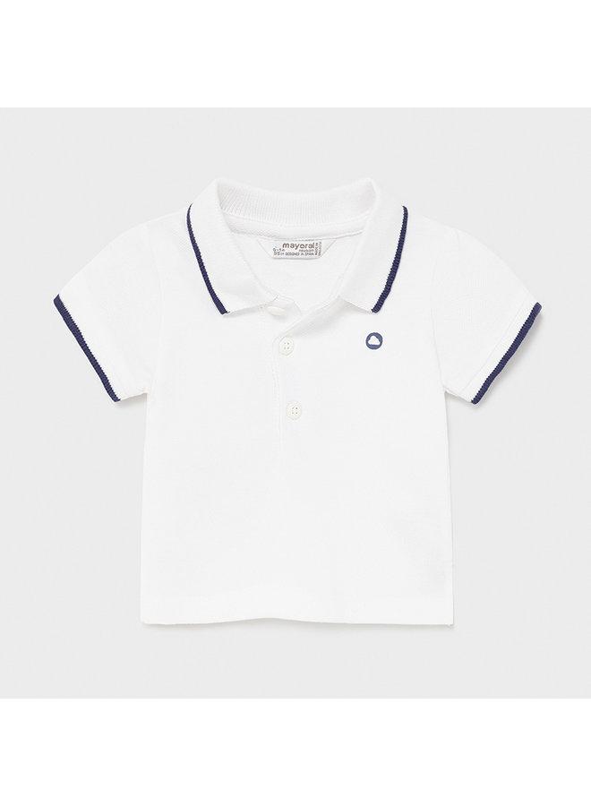 Basic s/s polo White