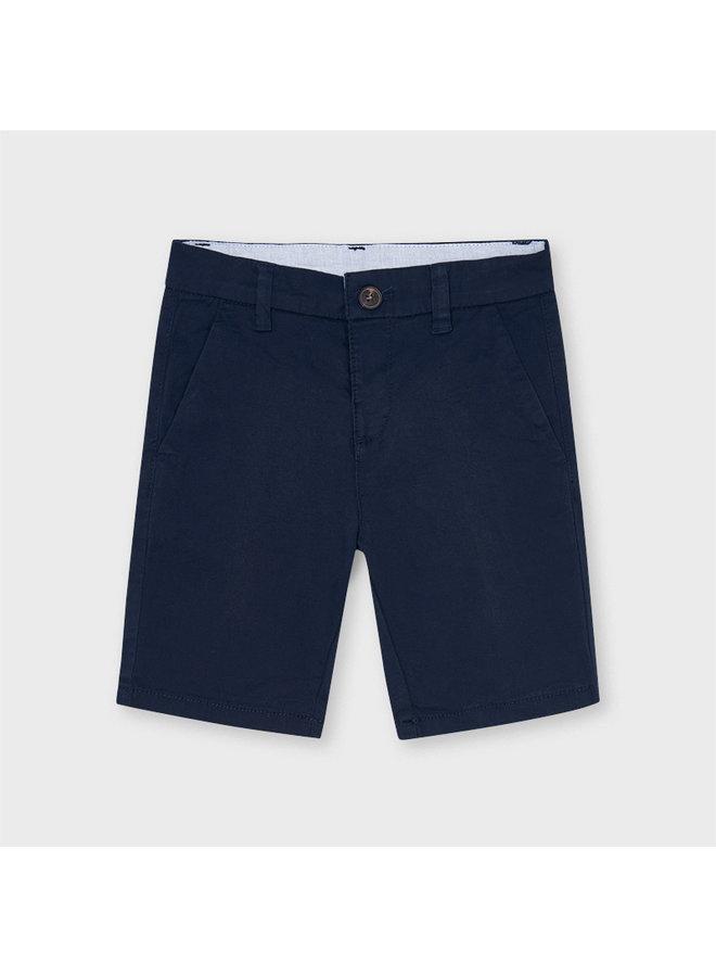 Basic twill chino shorts Navy