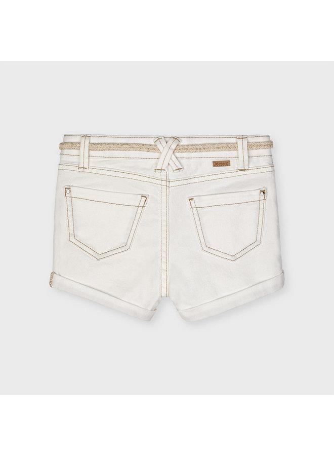 Basic twill shorts Natural