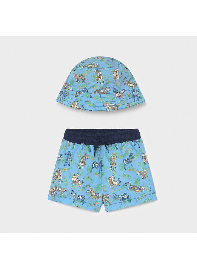 bathing suit and hat set Lavender