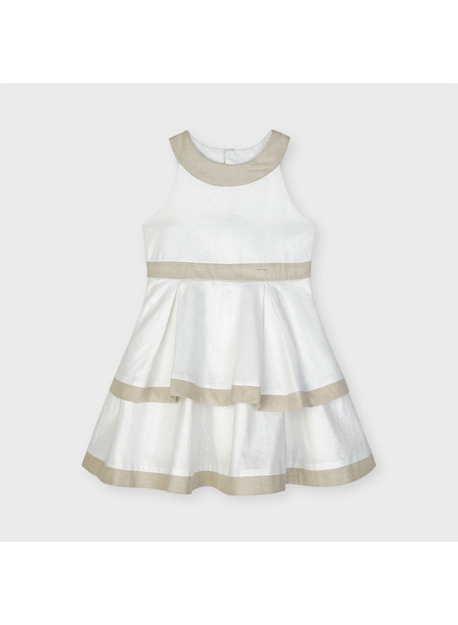 blotch linen dress Stone