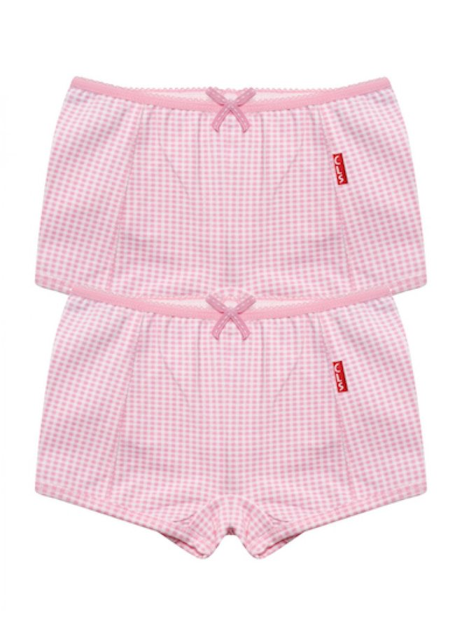 Cl 933/Girls 2-pack Small Pink Checks