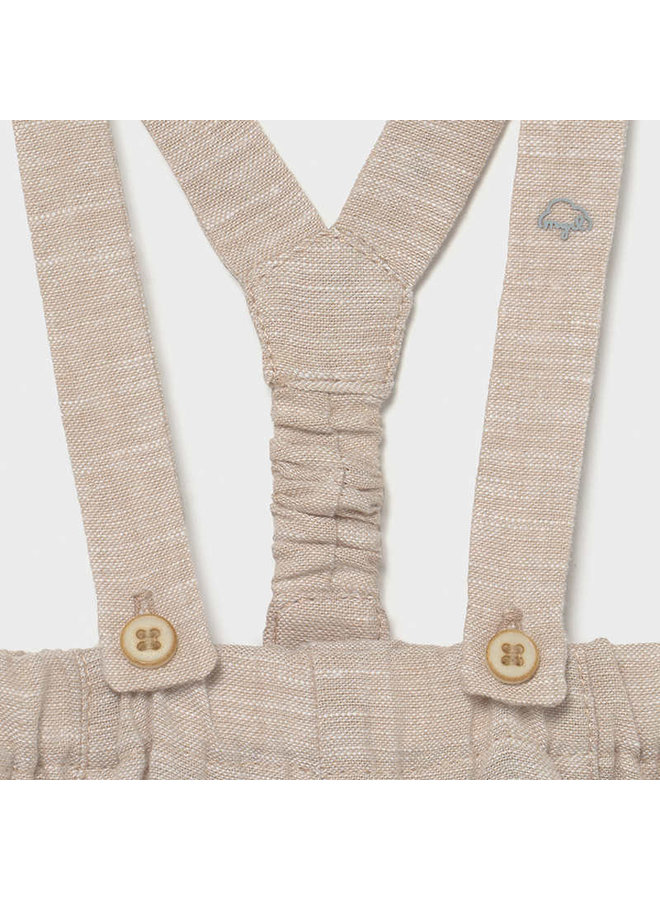 Long trousers with suspenders Toffee