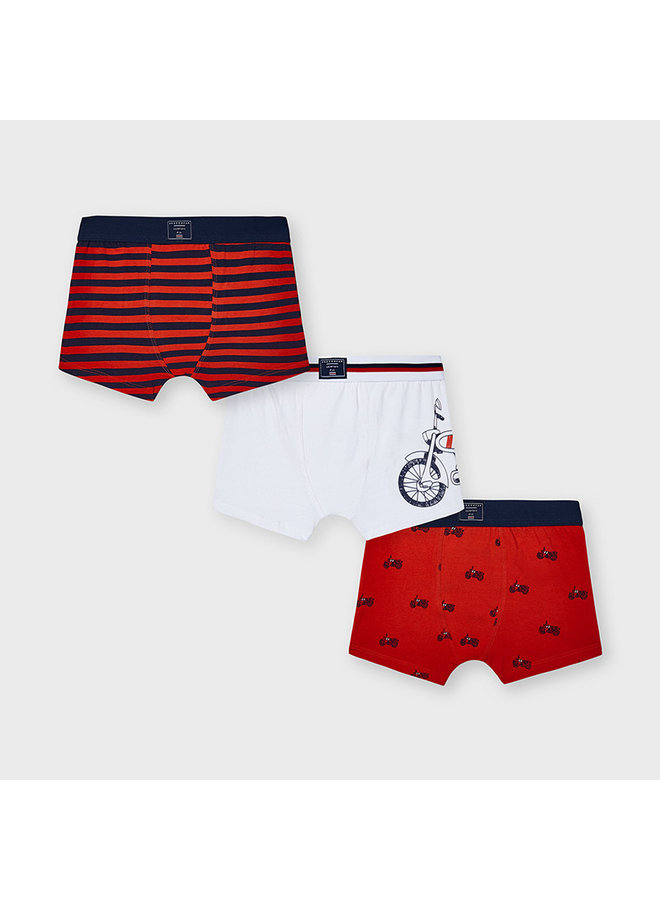 "boxer set of 3 ""bicycle"" Cyber Red"