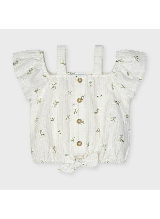 patterned blouse Natural