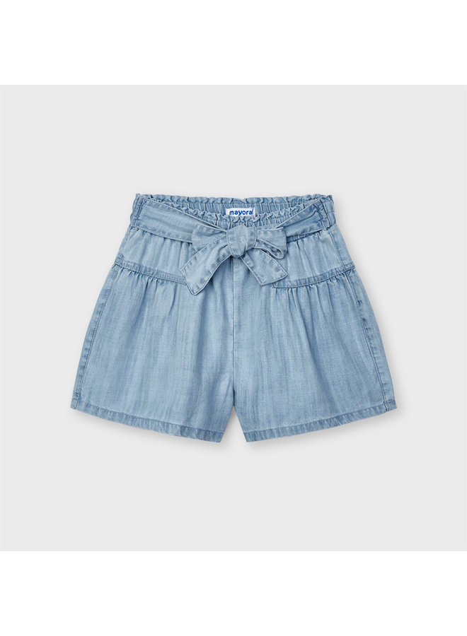 denim short pant Bleached