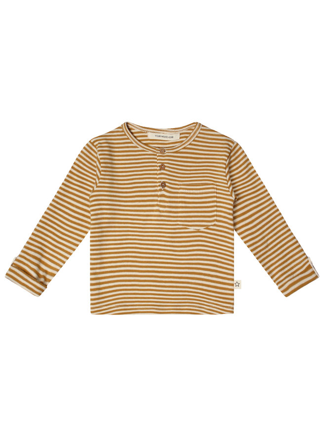 Gold Stripes Grandpa Longsleeve Soft Yellow