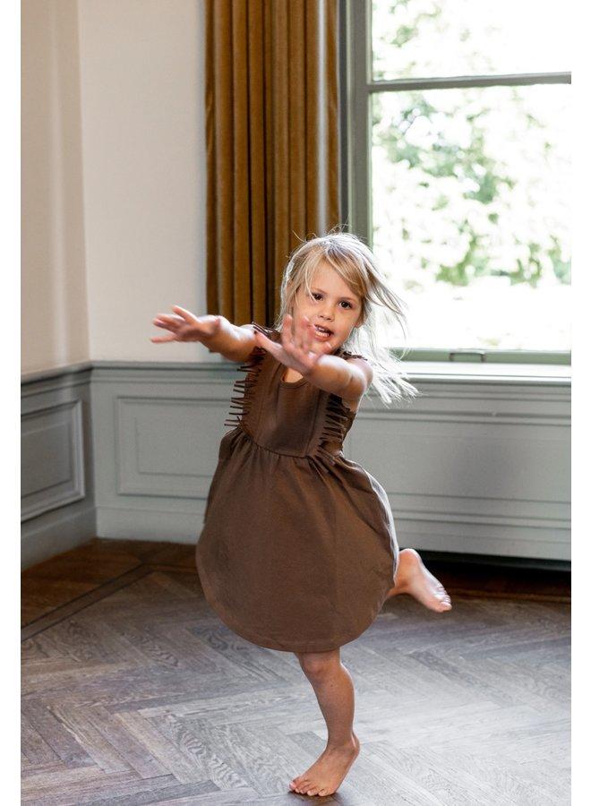 Boho Dress Sleeveless Fondue Fudge