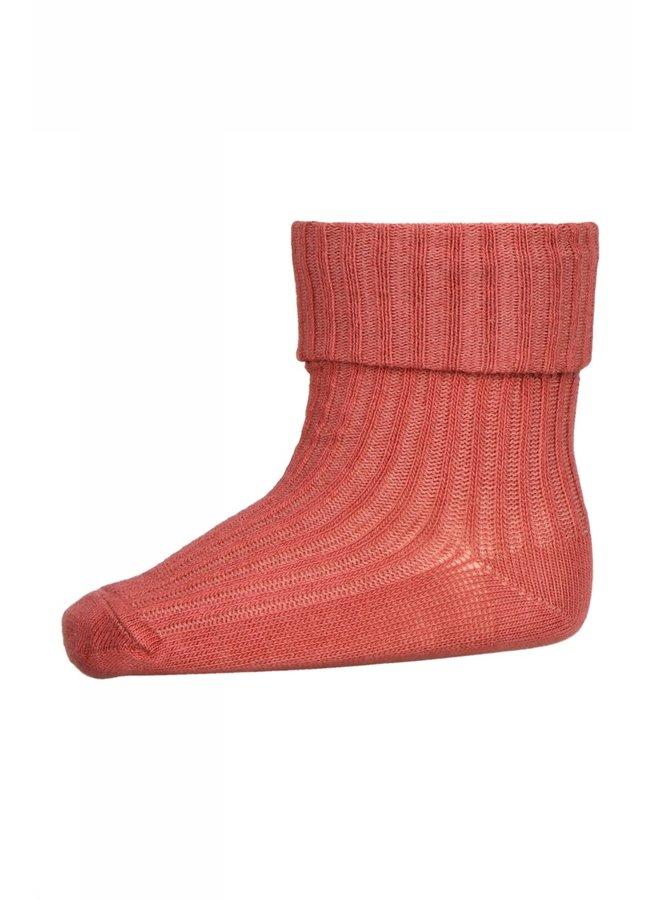 Cotton rib baby socks Marsala