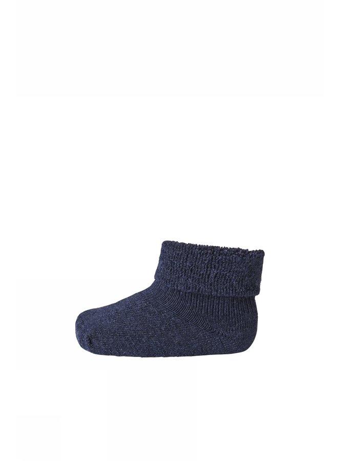 Plain bayb terry socks Indigo Blue