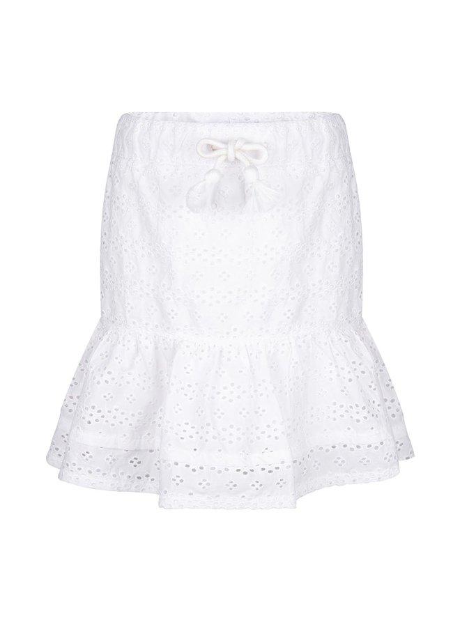 Broderie Skirt Off White