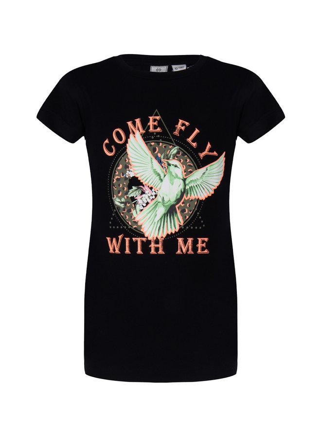 T-Shirt Ss Fly Black