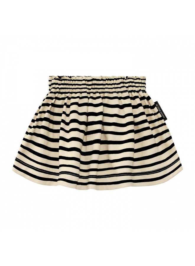 Stripes Nude   Skirt