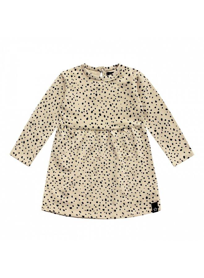Cheetah | Pleated Dress LS