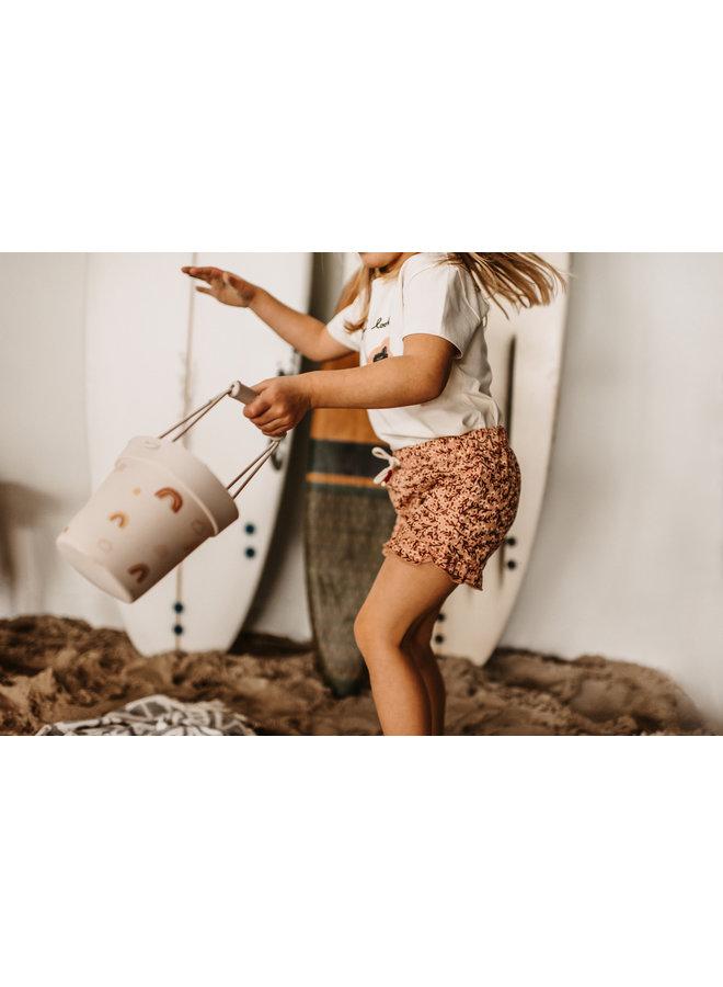 Floral/Ruffle Shorts