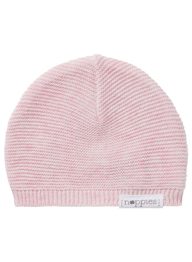 Hat knit Rosita Light Rose Melange