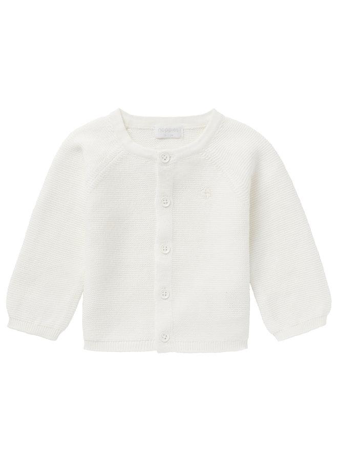 Cardigan knit Naga White