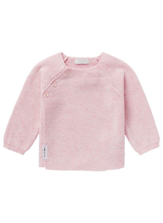 Cardigan Knit ls Pino Light Rose Melange
