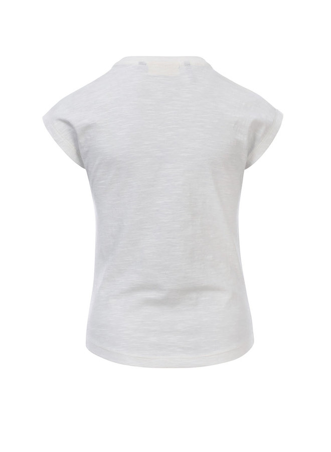 10Sixteen T-shirt with embroidery White Lilly