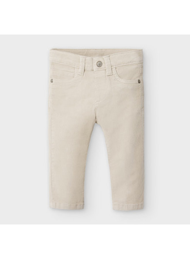 Basic slim fit cord trousers Pine