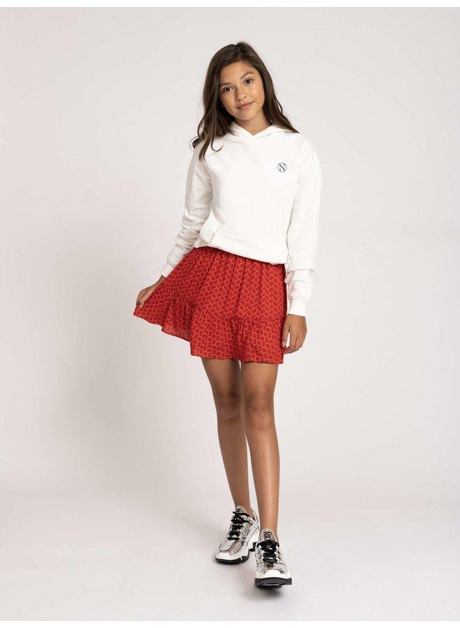 Abby Logo Skirt Pop Red