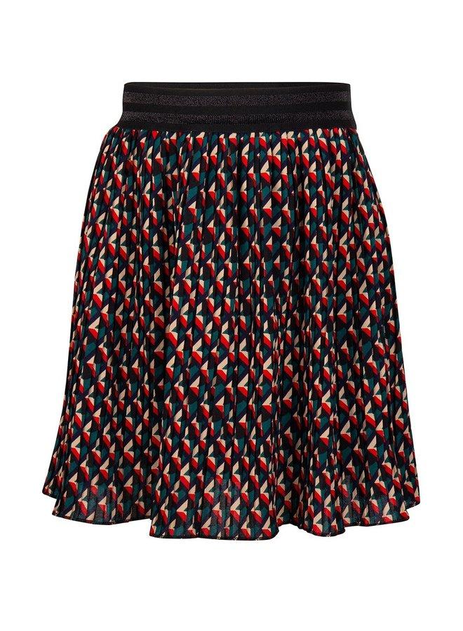 Graphic Skirt Fancy Print