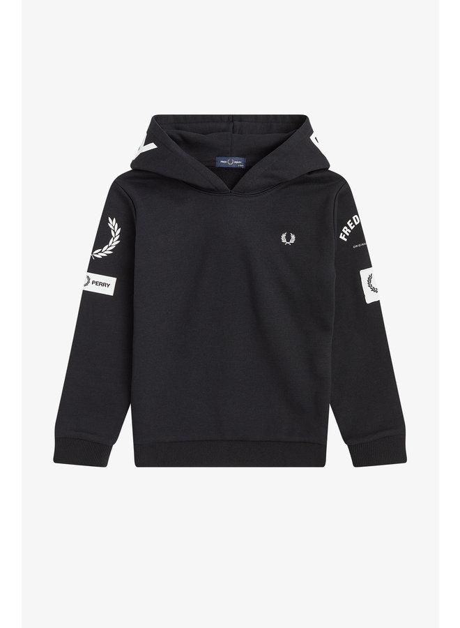 Bold Branding Hooded Sweatshirt Black