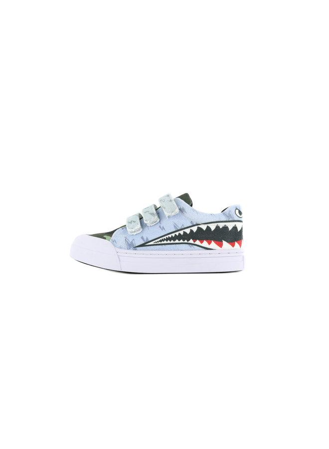 Sneaker Sharkattack klittenband