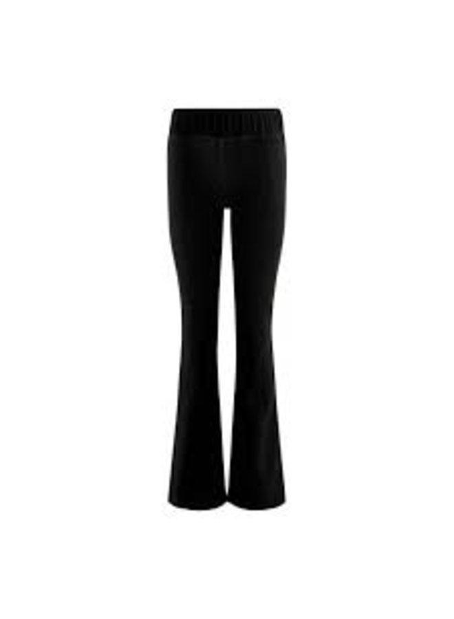 Cozy Velvet  Flared Pants Black