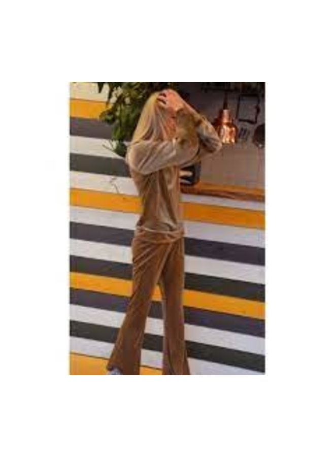 Cozy Flared Pants Sand