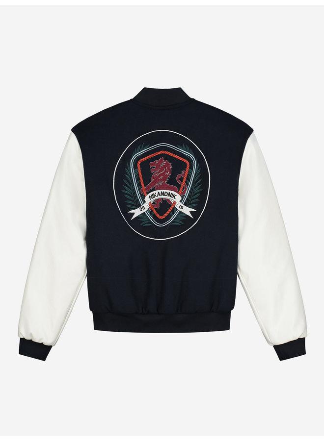 Esna Baseball Jacket Vintage White