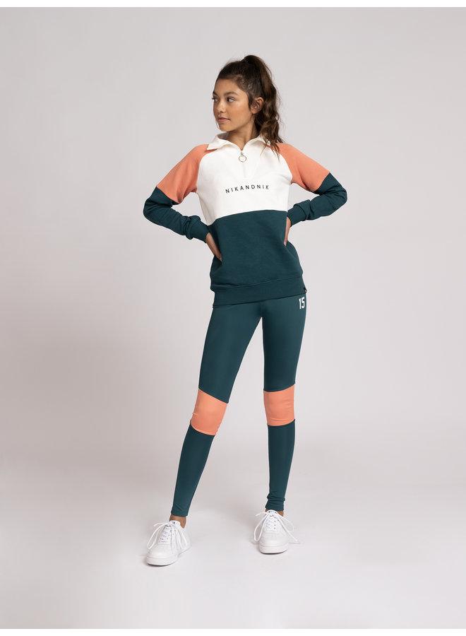 Almona Sweater Deep Water Green
