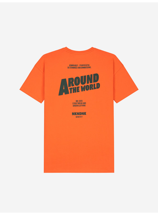 The World T-Shirt Fire Orange