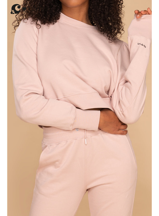 Cropped Sweater &C oud roze Let's Do This