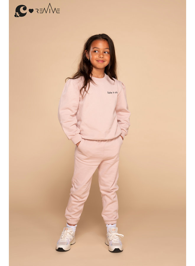 Kids Joggingset Girl &C roze Take it Slow g