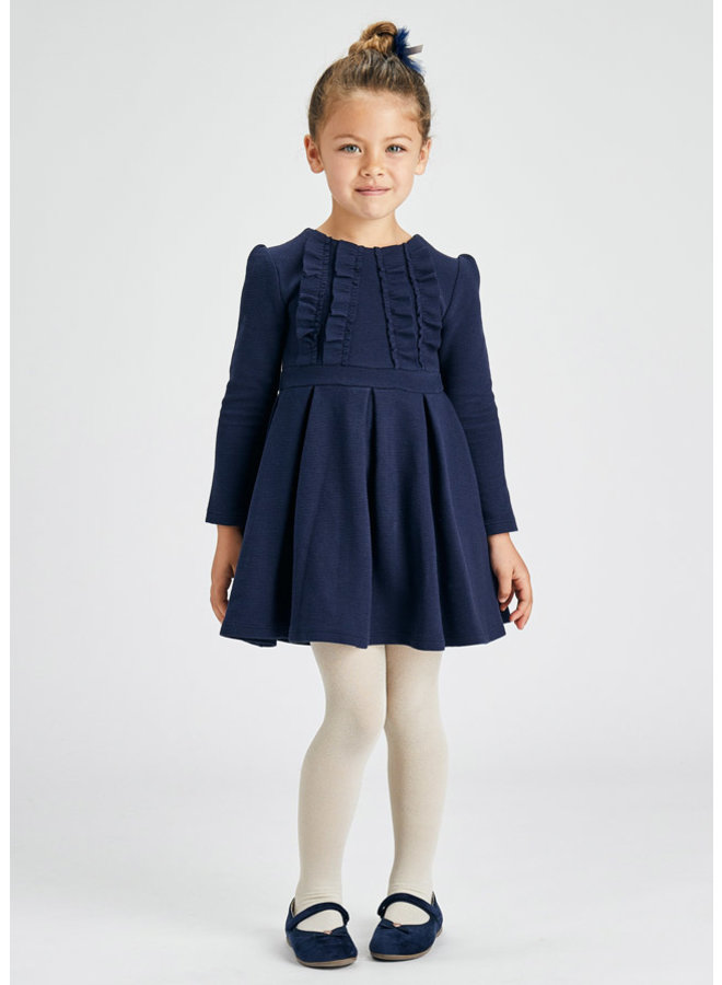 Mayoral Knitted dress ottoman Ink