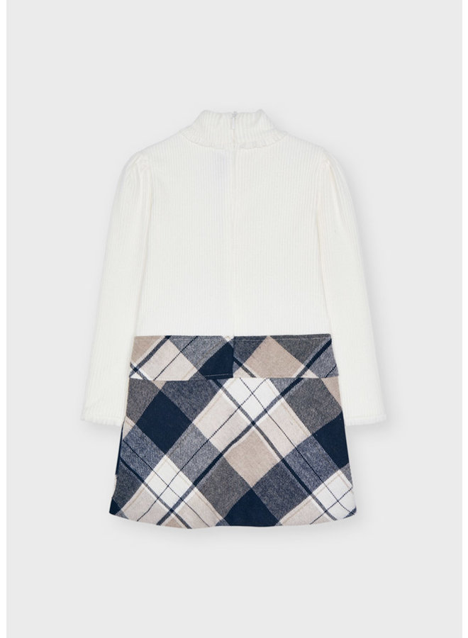 Mayoral Plaid combined dress Navy