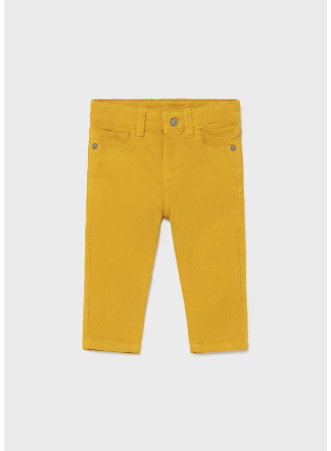 Mayoral Basic slim fit cord trousers Gold
